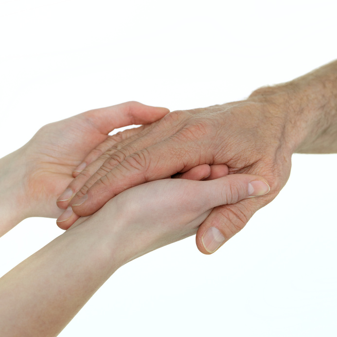 Two generations - helping hands